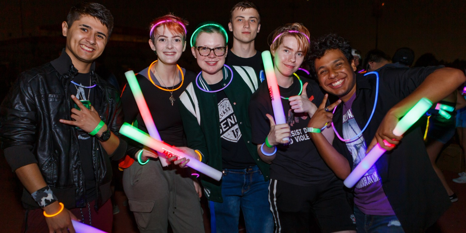 Students participate in Light Up the Night.