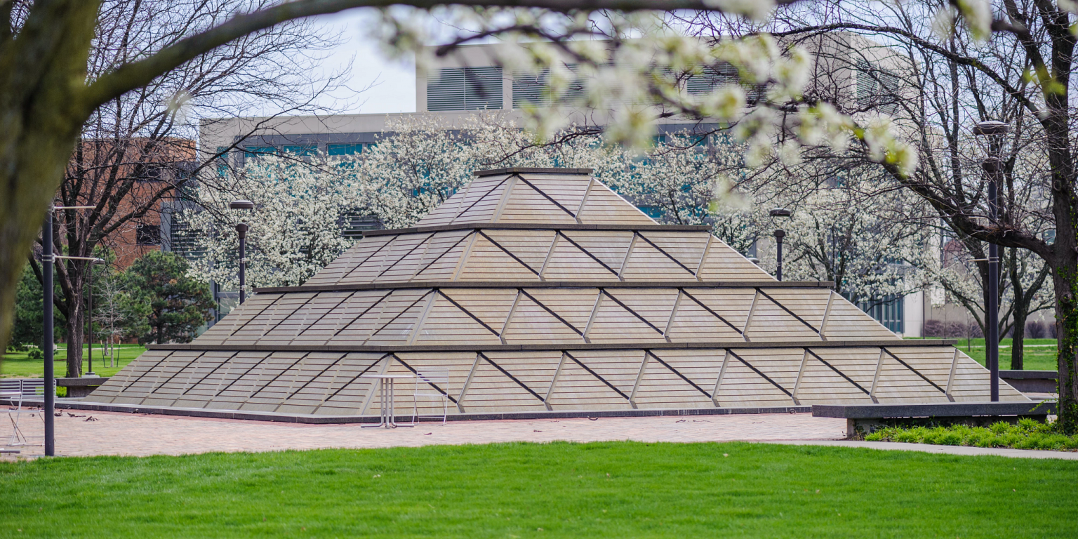 pyramid fountain