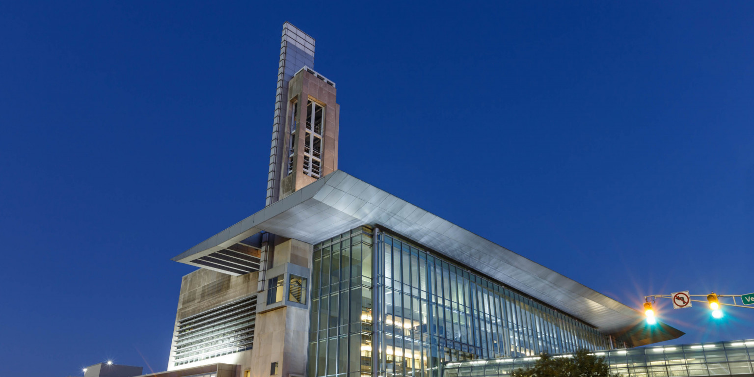 IUPUI's Campus Center at sunrise