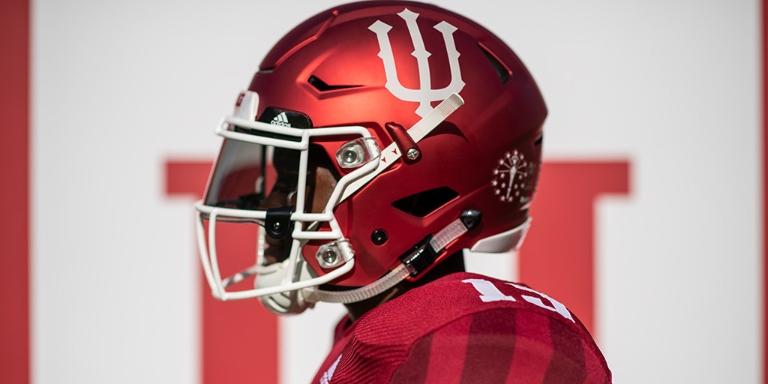 IU football bicentennial helmet