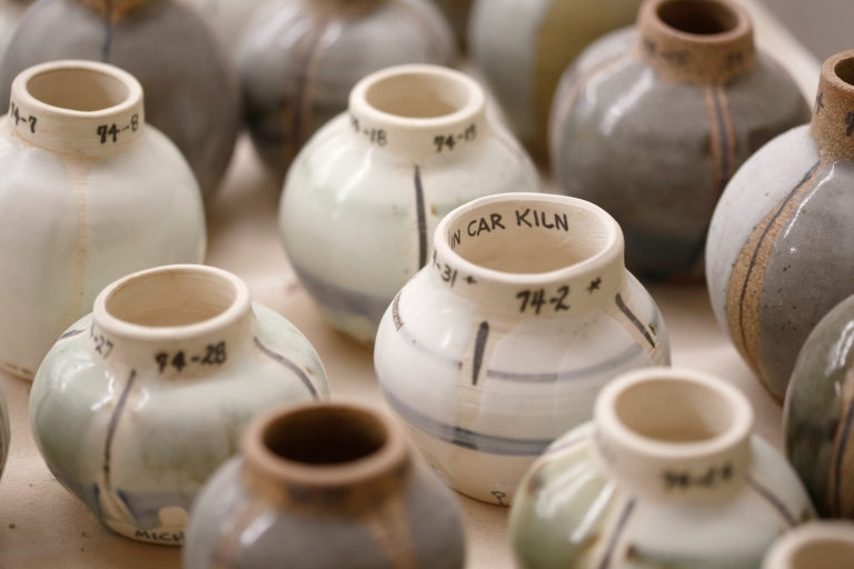 A row of pottery