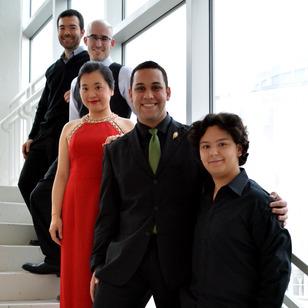 2014 competitors: Ricardo Martinez, Sean Cavanaugh (Martinez's collaborator), Hamno Qian, Bruno Sandes, and Emmanuel Padilla.