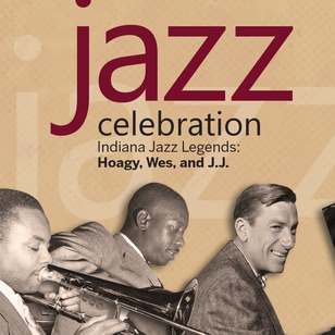 Jazz Celebration: trombonist J.J. Johnson; guitarist Wes Montgomery; pianist Hoagy Carmichael. Photos courtesy of Duncan Schiedt.