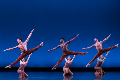 Dancers on a stage