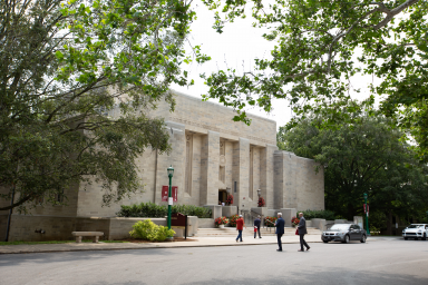 An exterior view of the Lilly Library