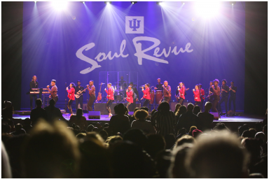 Members of the IU Soul Revue perform on stage