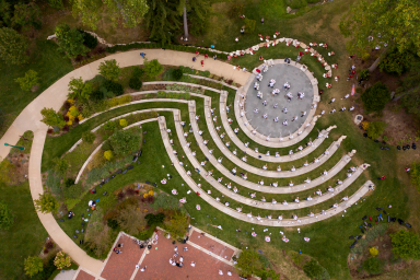 Overhead shot of Prebys Amphitheater