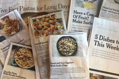 Copies of recipes printed in the newspaper