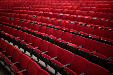 Newly refurbished seating in the auditorium