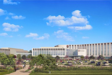 Rendering of regional academic health center building