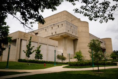 The Musical Arts Center is pictured on a summer day at IU Bloomington.