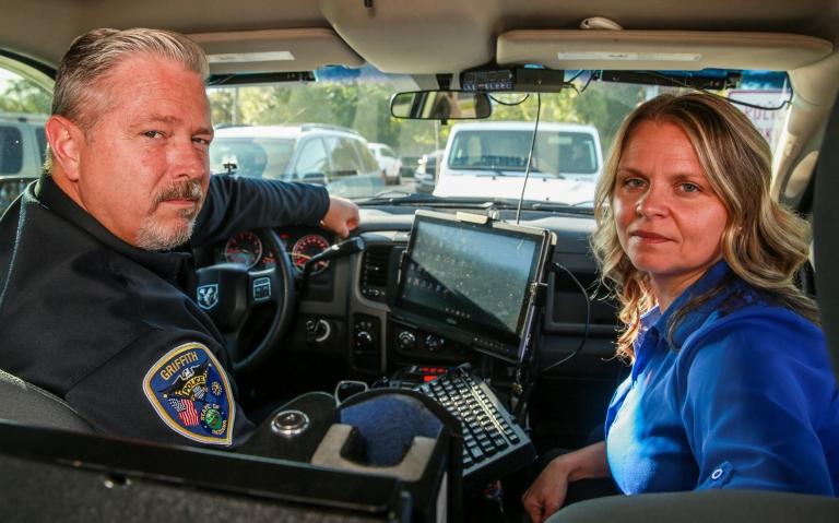 Erica Rios and Lt. Curt Burrow