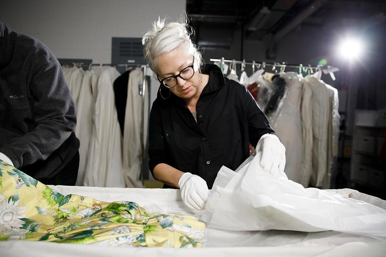 Kelly Richardson looks at a Glenn Close costume