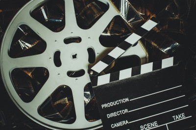 An old-style film reel
