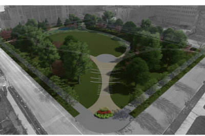 the northwest quad proposed on the IU Bloomington campus