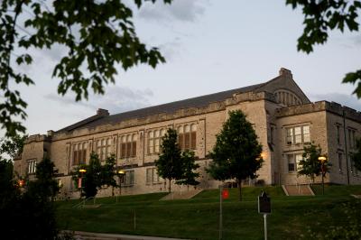 Exterior of the IU School of Public Health-Bloomington building in summer