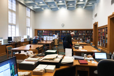 The reading room in the Lilly Library Reading Room