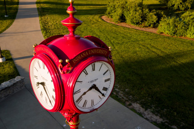 red campus clock