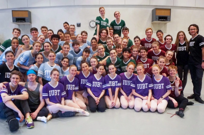 Ballet students pose for a group shot