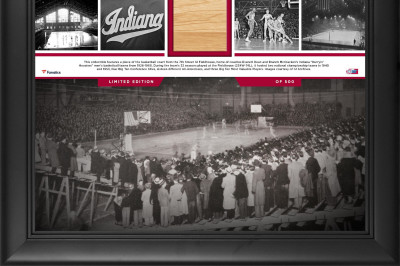 A piece of a historic IU basketball court that is available to own.