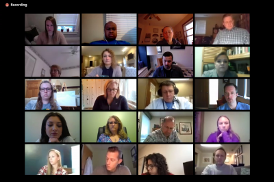 Videoconferencing participants in the new COVID-19 ECHO