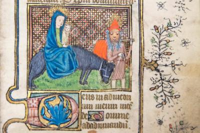 Detail of a medieval manuscript