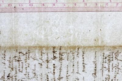 Watermark on Newton manuscript