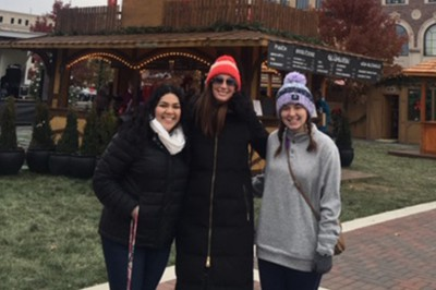 Emely Chacon at the Christkindlmarkt festival