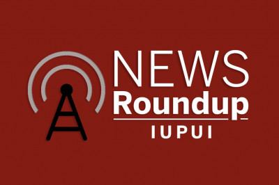 white text on a red background that reads news roundup