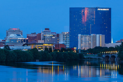 The JW Marriott hotel on the Indianapolis skyline