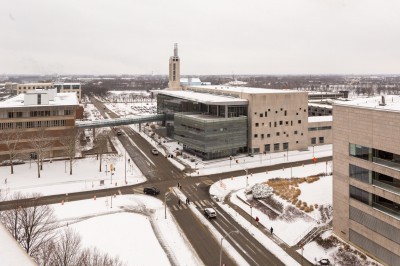 Snowy campus center