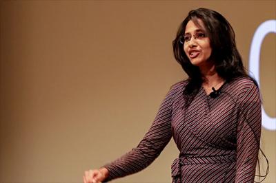 A person giving a presentation.
