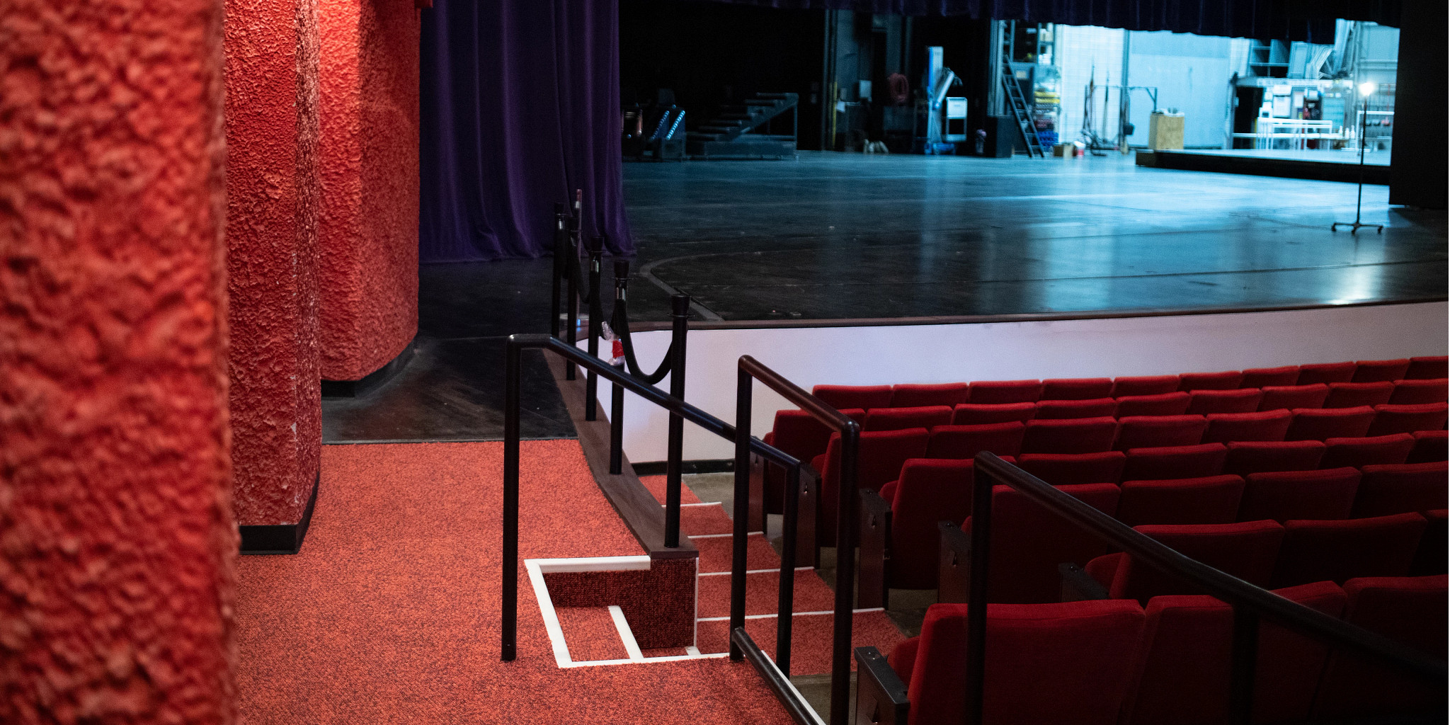 Updated ramp inside the theater