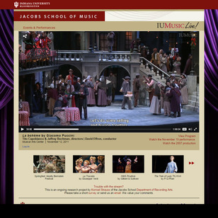 ?La Boheme? is one of several productions to be live-streamed by the Jacobs School of Music this season.