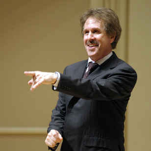 Steve Zegree directing the Vocal Jazz Ensemble