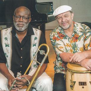 Trombonist Wayne Wallace and percussionist Michael Spiro