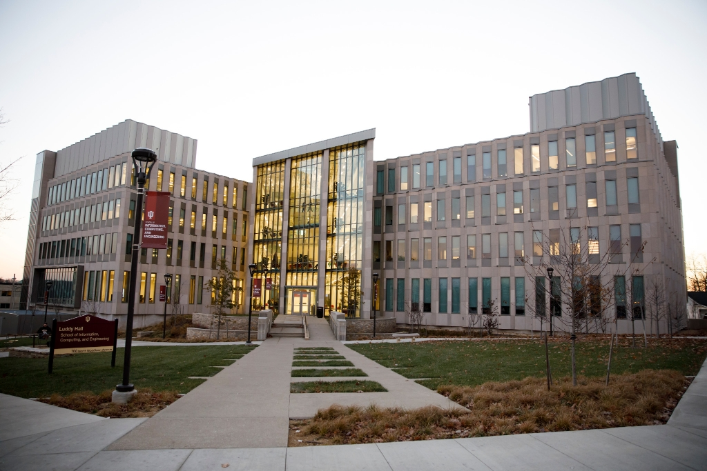 Luddy Hall on the Indiana University Bloomington campus