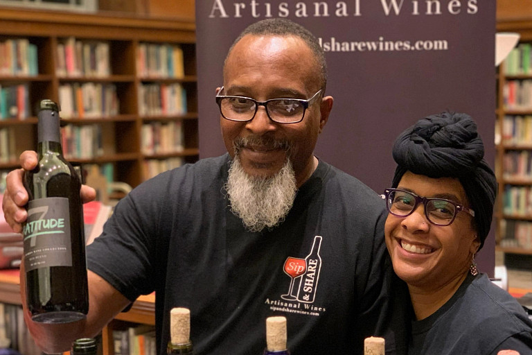 David Thompson and Nicole Kearney of Sip and Share Wines