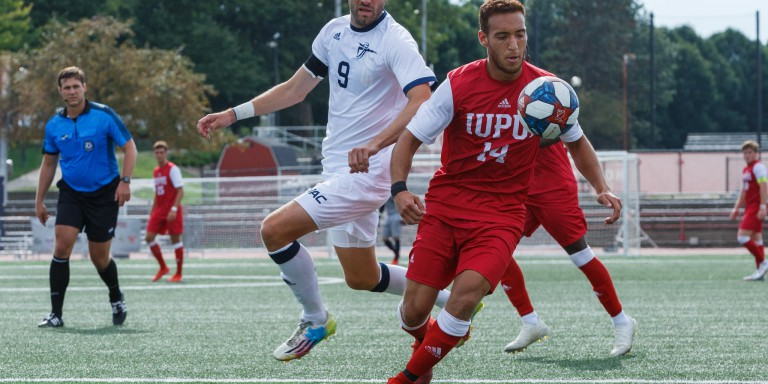 IUPUI men's soccer competes at home at Carroll Stadium.