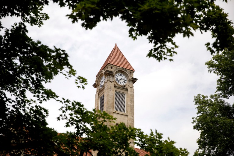 IU clock tower.