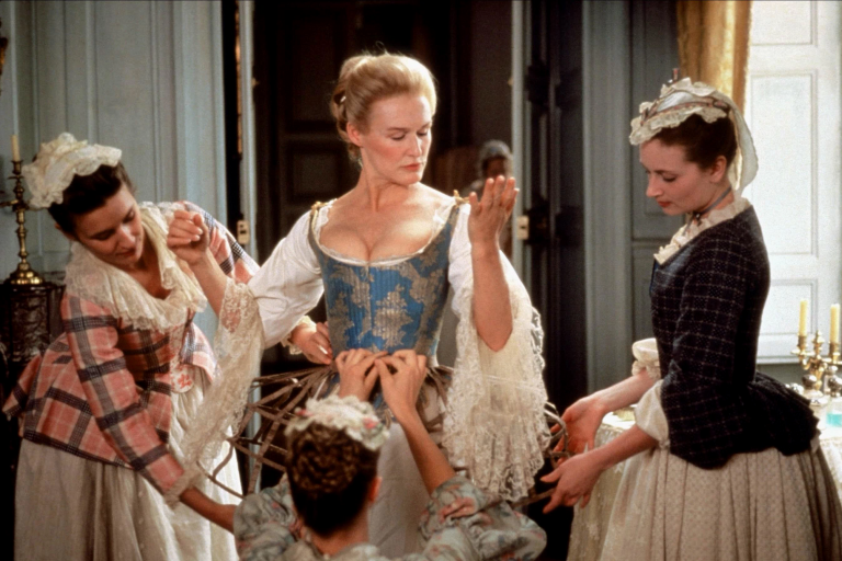 "Glenn Close in a scene from ""Dangerous Liaisons."""