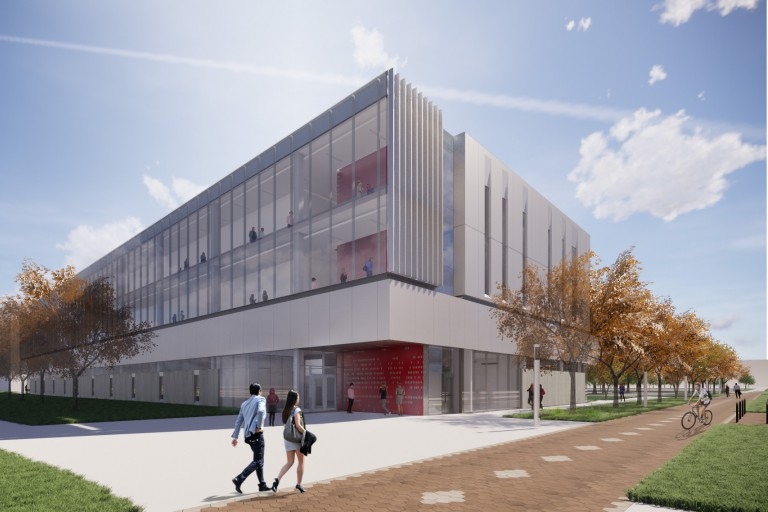 A rendering of Innovation Hall, a multidisciplinary research and classroom building.