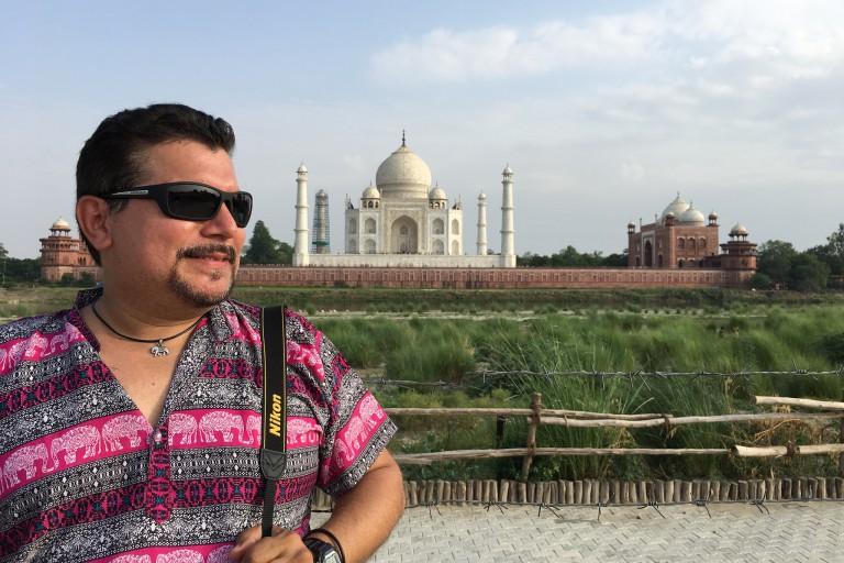 J.R. Pico in front of the Taj Mahal