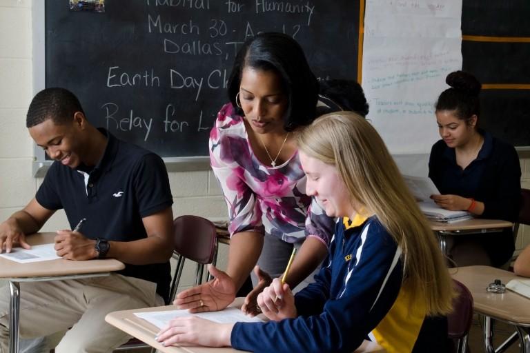 Jahana Hayes in the classroom