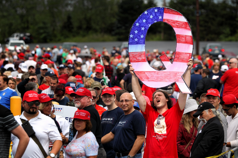 A picture from a QAnon rally