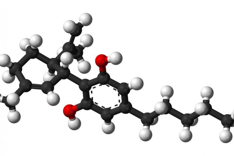 A cannabidiol molecule