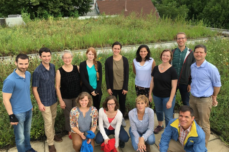 A group shot of IU's Environmental Resilience Institute fellows