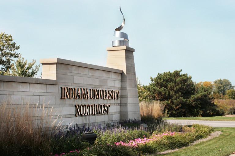 The entrance to IU Northwest