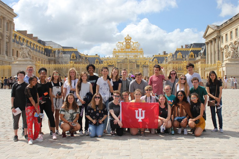 Honors Program in Foreign Languages students who attended the 2017 program in St. Brieuc