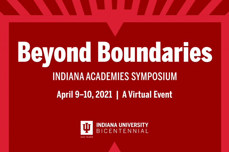 A graphic for the Beyond Boundaries symposium April 9 and 10